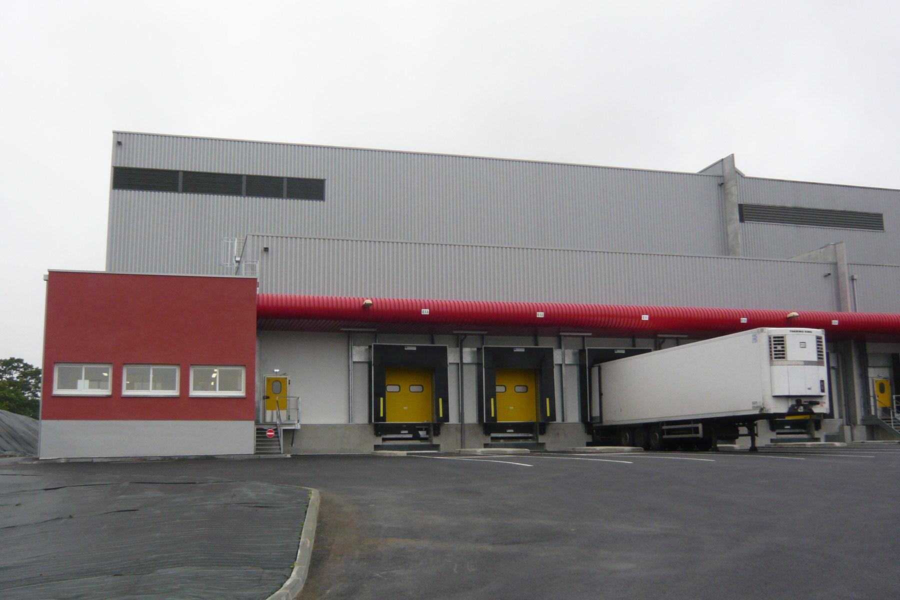 Gros-oeuvre de l'usine BRIDOR réalisé par GCA